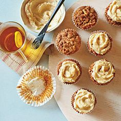 Gingerbread Muffins with Spiced Streusel and Spiced Hard Sauce | MyRecipes.com