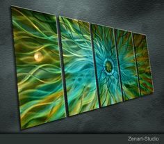 Original Metal Wall Art Modern Painting Sculpture by zenartstudio, $199.00