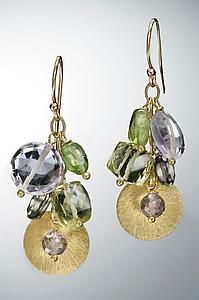 Amethyst, Citrine, Topaz and Peridot Earrings: Judy Bliss: Gold Stone Earrings | Artful Home