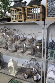 Lanterns, lights, centerpieces for  rustic, barn weddings; home decor accessories at The Barn Nursery, Chattanooga!