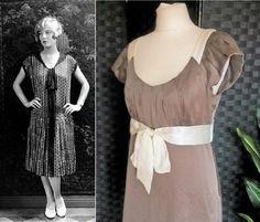 Tea Dress Silk Dress Style Dress Downton Abbey Dress Style Dress Bow Dress Peaky B 1920s Fashion Dresses, 1930s Fashion, Vintage Dresses, Peaky Blinders Dress, Fringe Flapper Dress, Bias Cut Dress, 1930s Style, 1930s Dress, Cowl Neck Dress