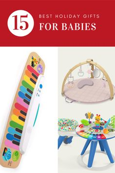 Here are the best holiday gift ideas for babies! Also so many great ideas for baby shower gifts. #babygifts #babyshower #holidayshopping #holidaygifts #giftideas #christmasgifts #christmasshopping Fun Gifts, Gifts For Kids, Baby Gifts, Holiday Fun, Holiday Gifts, Baby Development Milestones, Teachers Day Card, Vtech Baby, Bunny Book