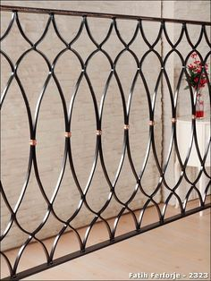 Wrought iron example of realization: 2323 - Balcony Design, Balcony Grill Design, Stairs Design, Railing Design, Wrought Iron Design, Door Gate Design, Iron Decor