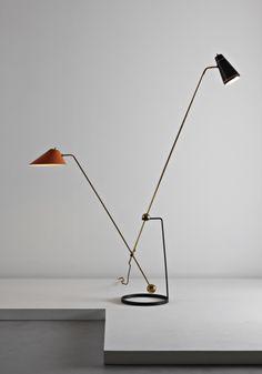 PHILLIPS : UK050110, PIERRE GUARICHE, 'Equilibrium' floor lamp