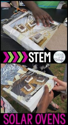STEM Challenges for elementary students! Students will experiment with heat-resistant materials and then use their test results to design the best oven possible. This is so exciting as they troop outside to test the materials, record the temperatures of the ovens, & choose the materials to design the best oven. Finally, they put together a chocolate treat and use the sun to help cook the item. This STEM resource includes detailed teacher directions, photos, lab sheets, and rubrics.
