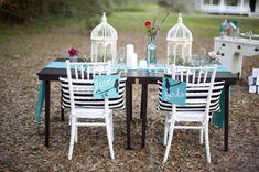 Aqua, Black, and White Wedding Inspiration // photo by Devon Donnahoo Photography