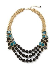 White House | Black Market Triple Marquise Statement Necklace #whbm