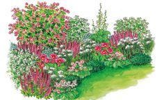 Zum Nachpflanzen: Harmonische Beet-Partie A Maiblumenstrauch in the front garden not only contribute Diy Garden Projects, Diy Garden Decor, Garden Art, Garden Design, Rocks Garden, Design Jardin, Garden Images, Gnome Garden, Plantation