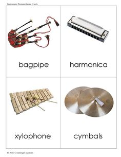 Instrument Nomenclature Cards (W19-W24)
