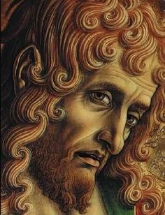 Carlo Crivelli, St John the Baptist (detail), from the Sant'Emidio altarpiece, 1473, Ascoli Piceno, Cathedral of Sant'Emidio