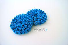 Popcorn Stitch Flower. Free Pattern and Video tutorial.
