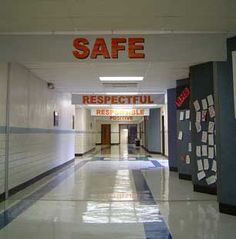 this is my school hallway leading to the cafeteria.