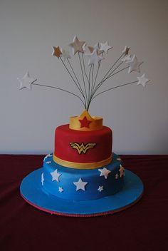 Wonder Woman Birthday Cake by melonqueen, via Flickr