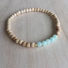 Bracelet Set Gemstone Bracelet Blue Amazonite Tassel