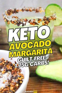 Keto Avocado Margarita Recipe with 1.75g Carbs Margarita Recipes, Free Keto Meal Plan, Keto Diet Review, Keto Cocktails, Keto Avocado, Keto Diet Breakfast, Diet Reviews, Juice Recipes