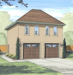 House Plans And More, Best House Plans, Garage Plans, Car Garage, Garage Ideas, Carriage House Garage, Garage House, Garage Studio, Dream Garage
