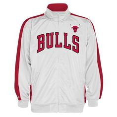 Chicago Bulls NBA Tricot Track Jacket (White/Red)