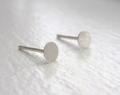 Flat 5mm Sterling Silver Round Studs 5mm Sterling by VirginiaWynne