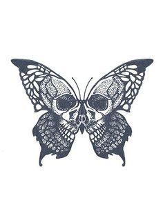 tattoo drawings / tattoo ideas ` tattoo designs ` tattoos ` tattoo ideas female ` tattoo drawings ` tattoos for women ` tattoo ideas small ` tattoo designs men Skull Butterfly Tattoo, Butterfly Drawing, Butterfly Tattoo Designs, Skull Tattoo Design, Skull Tattoos, Tattoo Designs Men, Cross Tattoos, Realistic Butterfly Tattoo, Papillon Butterfly