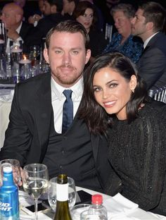 Channing Tatum and wife Jenna Dewan-Tatum attend the 26th Annual GLAAD Media Awards at the Beverly Hilton Hotel in Beverly Hills, Calif., on March 21, 2015.