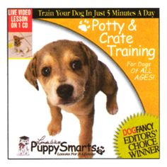 We carry training DVD's to help you learn the skills you need for potty training your puppy or adult dog . Ideal for new pet owners or even experienced pet parents who may be adopting a shelter dog or senior dog who needs a refresher in pottty training.
