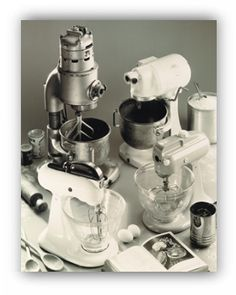 The original KitchenAid Stand Mixer. Love the original. Still have my moms from at least 20 years ago <3