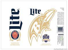 mybeerbuzz.com - Bringing Good Beers & Good People Together...: Miller Lite - Baltimore Ravens 20 Seasons Commemor...