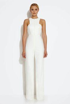 schlichter jumpsuit en blanc perfekt f rs standesamt christinas wedding pinterest. Black Bedroom Furniture Sets. Home Design Ideas