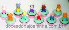 Mini Cupcakes decorados Peppa Pig e toda a Turma