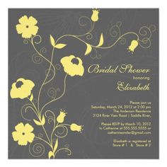 Modern Bloom floral Bridal Shower Invitations