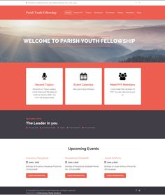 Website Design of Parish Youth Fellowship, a fellowship aimed at empowering members (Youths) spiritually, socially and educationally in order to enable them overcome challenges in life.  Click on the image and view more designs  #website #church #design #Nigeria #charity