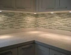 underlighting - great for laundry cabinets