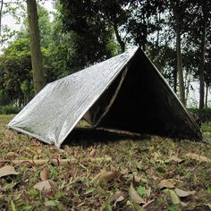 Горячая распродажа водонепроницаемый серебро аварийного палатка приют туризм выживание спасения теплое одеяло EDC спасательных непромокаемые палатки