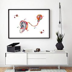 Throat Anatomy, Inner Ear, Gift Wrapping Services, Human Anatomy, Watercolor Print, All Print, Office Ideas, Fine Art Paper, African Fashion