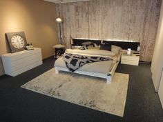 Concrete wallpaper by Piet Boon featured in a showroom in Switzerland www.padhome.co.uk
