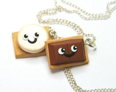 Oreo cookies friendship necklace kawaii gift for by DizzyDayDreamz