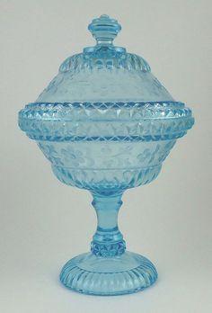 Steady Fenton Glass Blue Satin Hand Made Bon Bon Dish Original Estate Liquidation Buy One Give One North American Fenton