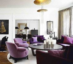 Ruth Burts Interiors: More Purple People (+ color 101)