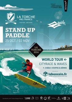 Marque Bretagne - Affiche Stand Up Paddle, manche coupe du monde 2014 |  Ecole de surf de Bretagne Sport | Affichage 2014