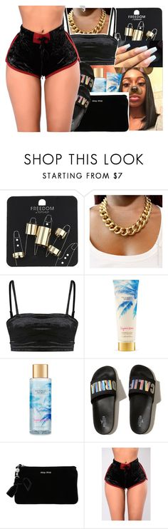 """😌🖤"" by mafiia-queen ❤ liked on Polyvore featuring beauty, Topshop, Victoria's Secret, Hollister Co. and Miu Miu"