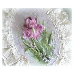 Shabby Chic Flower Wall Hanging Cottage Chic Floral Wall Hanging... ($40) via Polyvore featuring home, home decor, wall art, flower wall hanging, flower wall art, flower stem, blossom wall art and floral wall hanging