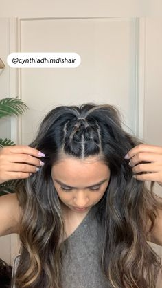 Straight Hairstyles For Long Hair, Long Hair Hairstyles, Easy Hairstyles For Long Hair, Hairdos, Pretty Hairstyles, Updos, Hair Up Styles, Natural Hair Styles, Hair Color Ideas