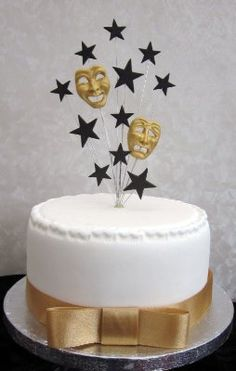 Comedy Tragedy Masks Cake Topper Suitable For A Small Cake Or Cupcke:Amazon. Co