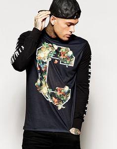 Aumentar Camiseta de manga larga con C de flores de Criminal Damage