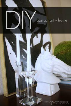 Crazy Wonderful: DIY abstract art + frame | tutorial