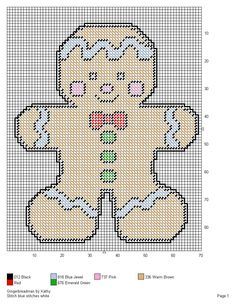 GINGERBREADMAN by KATHY -- WALL HANGING