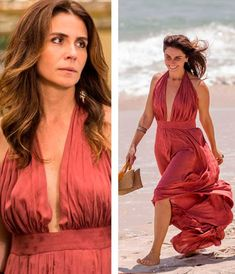 Alice (Giovanna Antonelli) vestido praia em Sol Nascente