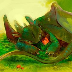 So freaking adorable! - How To Train Your Dragon by Rachel Saunders