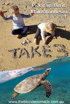 Do you #take3forthesea?  The Blonde Nomads partner with Take 3 to help raise awareness and the importance of protecting the environment. Simply take 3 pieces of rubbish with you. Please pin this image to help spread awareness of this great cause. Read more at https://www.theblondenomads.com.au/take3/