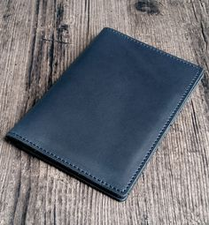 Men's passport wallet made of genuine leather (blue navy color). Available in 4 colors on our Etsy shop Passport Wallet, Navy Color, Leather Accessories, Etsy Shop, Colors, Blue, Color, Hand Made, Colour
